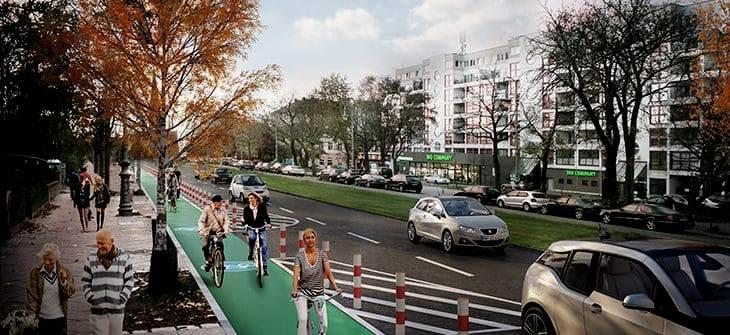 Wie man Radfahrer und Fußgänger im Stadtverkehr schützt
