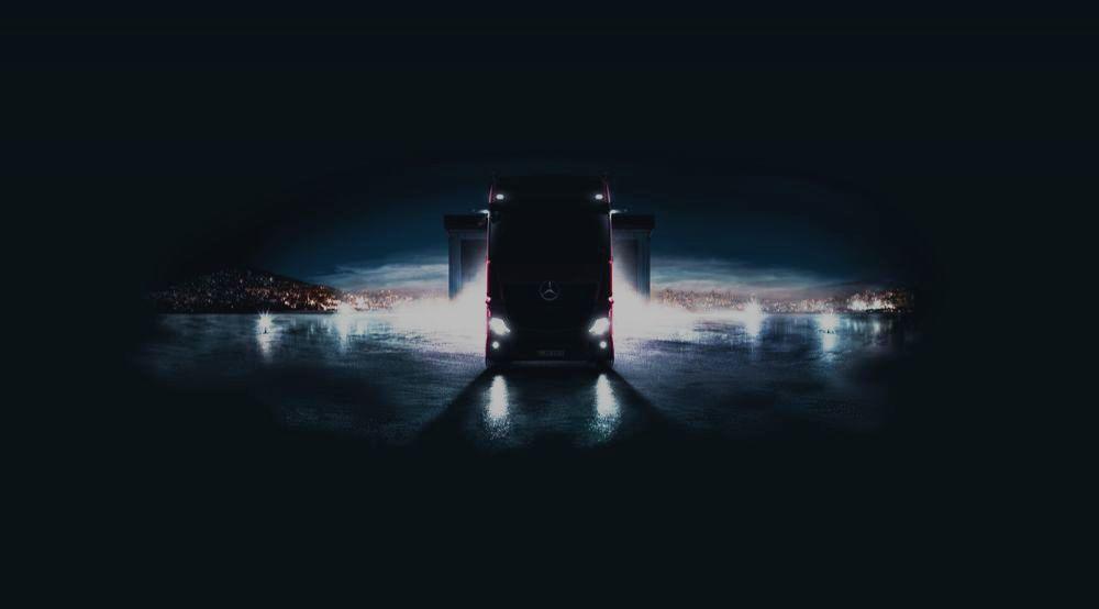 Elefant ohne Ohren: Mercedes Benz Actros der neuesten Generation kommt auf die Bühne