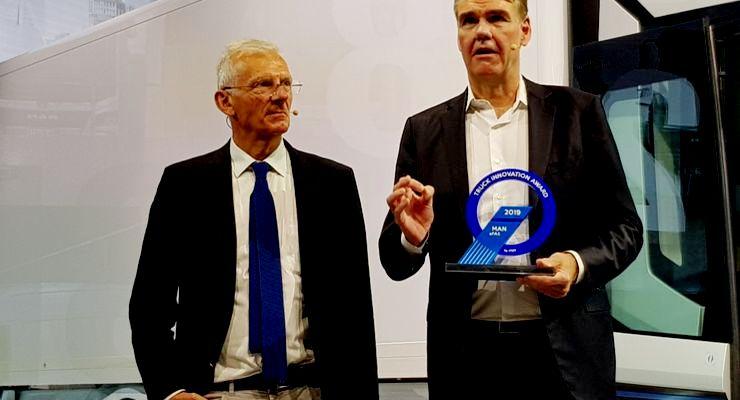 MAN Truck & Bus gewinnt den neuentwickelten Preis Truck Innovation Award 2019