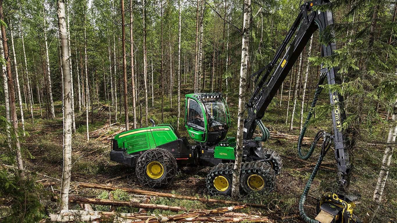 John Deere präsentiert einen neuen wendigen Harvester